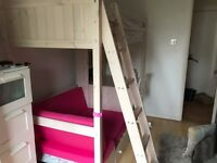 Bunk bed with sofa bed and desk