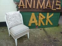 Wicker Backed Chair Shabby Chic Project Delivery Available £10