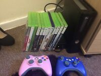 Xbox 360 13 games 2 controllers
