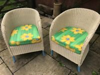 Pair of lovely wicker chairs