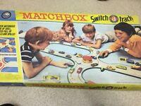 Rare Vintage matchbox M-3 switch a track set