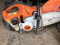 Stihl Saw TS410. Used and in good condition. New pulled cord fitted.