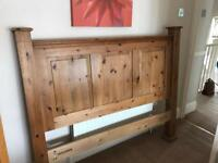 King size solid wood headboard for sale