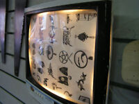 retro light up picture frame tv by cr customs
