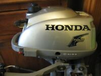 Honda 2.3HP 4 Stroke Outboard Engine 10 Hours Use Only From New