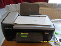 Lexmark wireless inkjet printer, scanner, photocopier fax machine. New inkjet cartridges installed