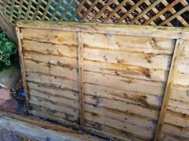 2x 3ft x 6ft fence panels