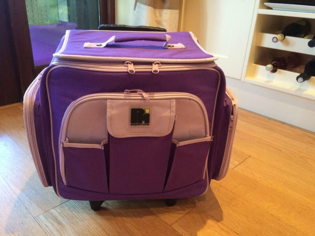 Craft Trolley Rolling Tote In Purple Lots Of Storage