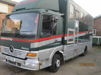 Mercedes Atego Horsebox 2004 new MOT, 4 horses and just been serviced
