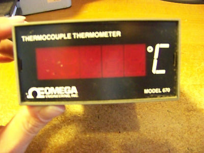 Omega 670 Thermocouple Thermometer For Type S
