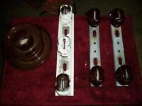 Insulators, and brackets