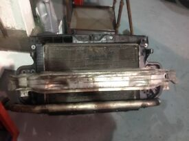 Audi A6 front panel radiator and fan