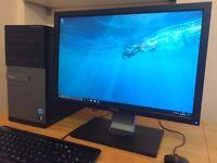 Very Fast DELL, Win10 - Core i3 3.30Ghz - 4GB Ram, 500GB, HDMI / Wifi + Monitor Desktop Computer PC