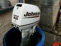 Johnson 8hp outboard engine