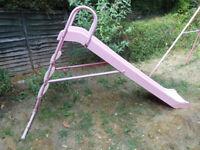 Childrens pink garden slide