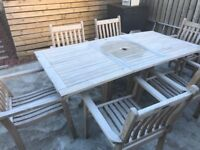 Garden table and 6 chairs 2 loungers - Smartwood