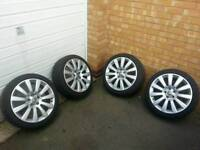 4 18'' Vauxhall Astra Twintop Alloy Wheels With Tyres Vectra Astra Zafira ETC VXR GSI 5X110 Alloys