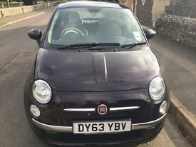 Fiat 500 1.2 lounge 2013(63reg) only 3,900 miles with full fiat service histroy one owner from new,,