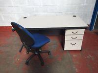 1600 x 800 Desk Pedestal & Chair