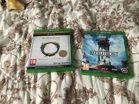 2 Xbox one games 10 each