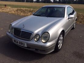 MERCEDES CLK 230 AUTOMATIC 2.3L Petrol in Silver with Full Black Leather seats & MOT until 27/04/17.