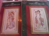 New counted cross stitch kits from the craft collection.2 kits in a series of art nouveau ladies.