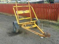 """Pedestrian roller transport trailer with 10 """" wheels or project conversion"""
