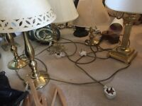 Numerous table lamps