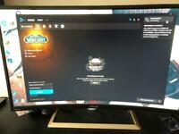 Asus 32 inch curved 4K gaming monitor
