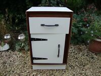 Unique Bedside Cabinet with Drawer.(Meredew circa 1960's).