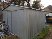 Metal shed, 8x8