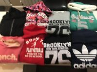 Selection of jumpers and sweatshirts.