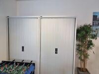 3 x Tambour Office Storage Cupboards