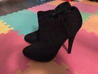 Black Ankle Boots Size 5UK / EU 38