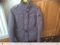 Ladies Barbour international jacket size 10 in grey