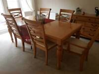 DiningTable 6 chairs and side board