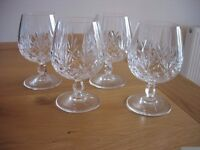 LEAD CRYSTAL BRANDY GLASSES (4)