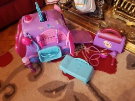 doc mcstuffins pull along trolly and extras