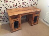 Solid wood desk - computer desk