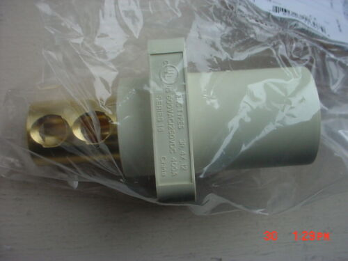 Hubbell HBLMRW Receptacle Single Pole Male Receptacle NEW
