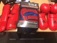 Title Hook & Jab Pads One Size MMA Boxing Set Free Adidas Gloves