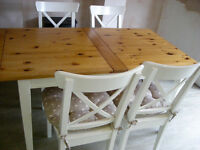 Ikea Extendable Dining Table & Four Chairs