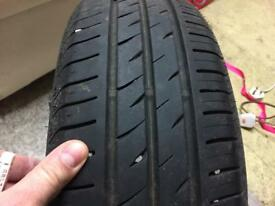 Two tyres 7mm tread 185 60 14