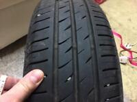 Two economy tyres 185 60 14 7mm