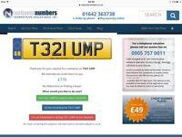 Private number plate T321UMP ( Triumph)