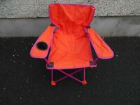 Childs Folding Camping Chair with carry bag