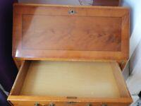 Mahogany wood writing bureau