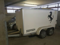 Car Box Trailer - Twin Axle - Shutter Door - Motorcycle Vehicle Kart Storage