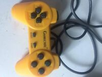 Vintage yellow game controller