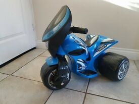 Electric ride on bike motorbike blue toy